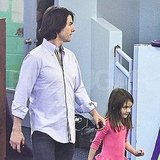 Katie Heads to Work as Tom and Suri Have a Playdate