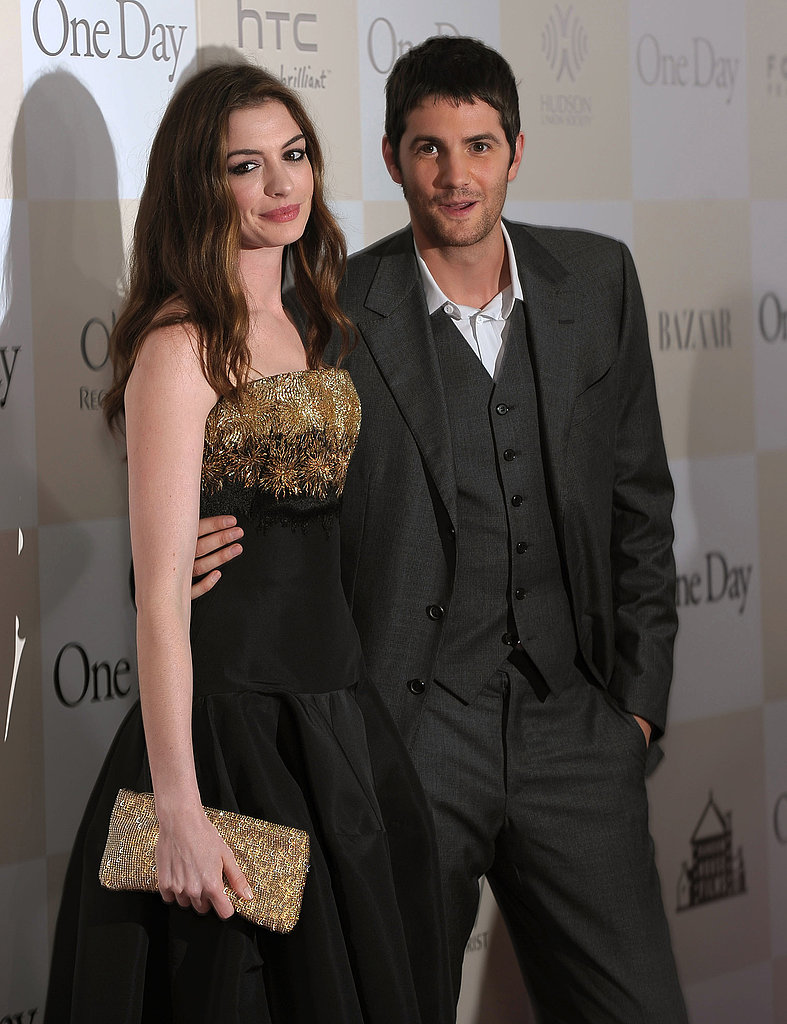 Anne Hathaway and Jim Sturgess at the NYC premiere of One Day.