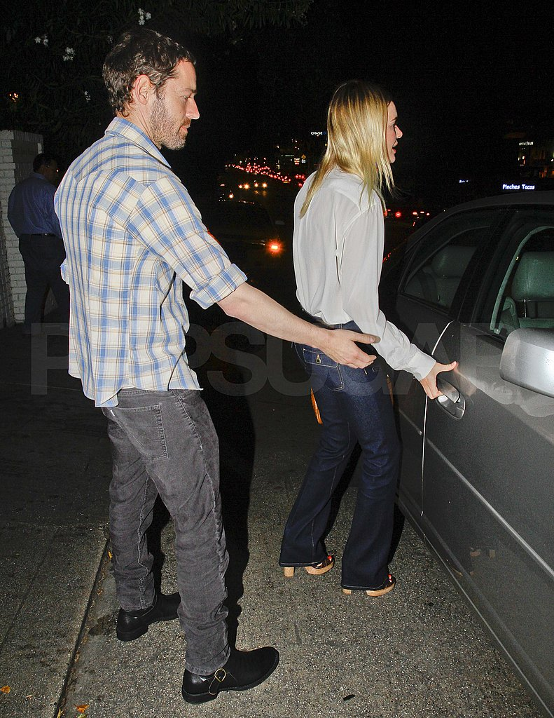 Michael Polish opened the door for Kate Bosworth leaving the Chateau Marmont.