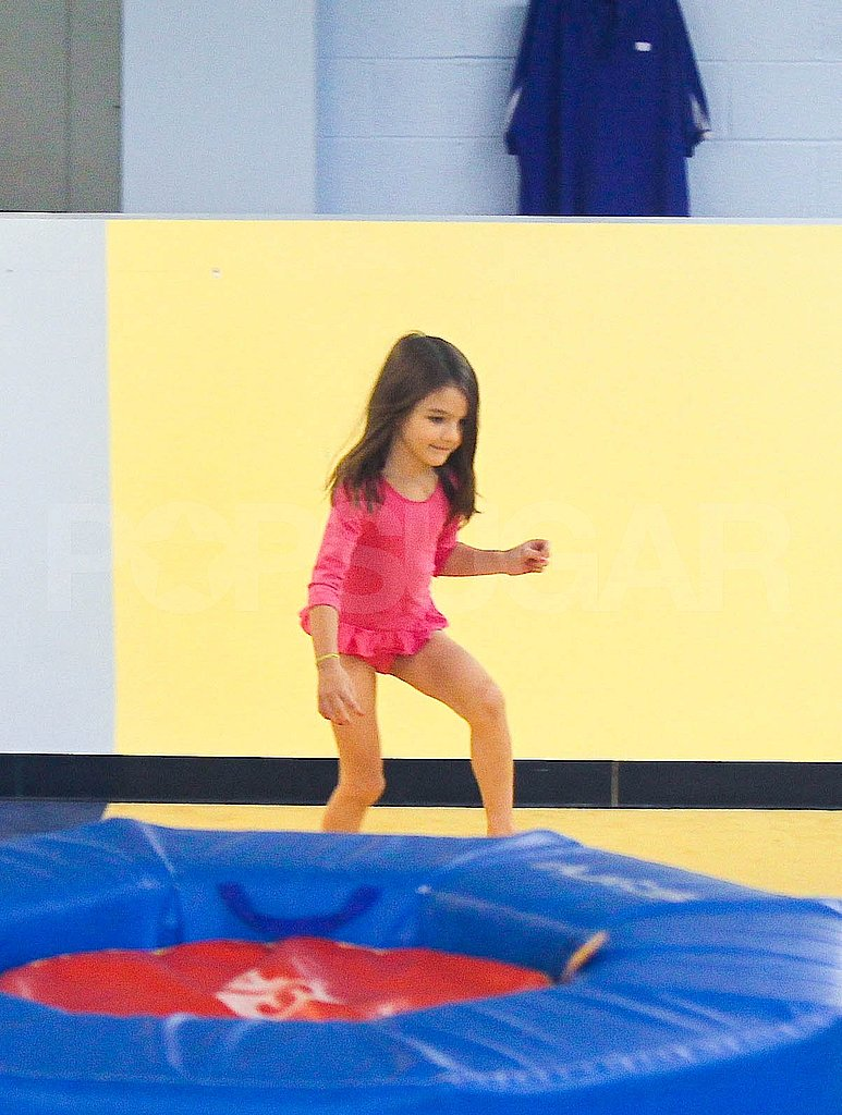 Suri Cruise at gymnastics.