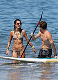 Alessandra Ambrosio with a pal.