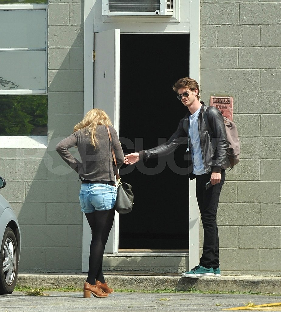 Andrew Garfield at a LA recording studio.