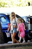 Geri Halliwell and daughter Bluebell.