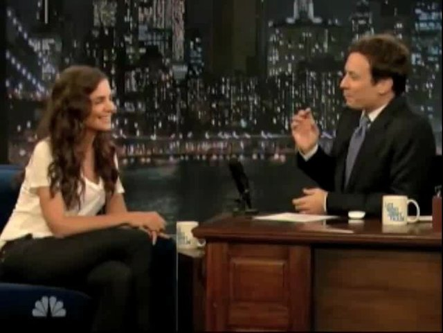 Katie Holmes Shows Off Her Dancing While Driving Skills
