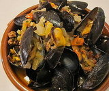 Chorizo, Mussels, and Tomatoes