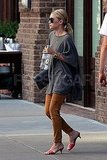 Ashley Olsen drinking Evian in NYC.