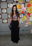 Jordana Brewster steps out for an Alice + Olivia party.