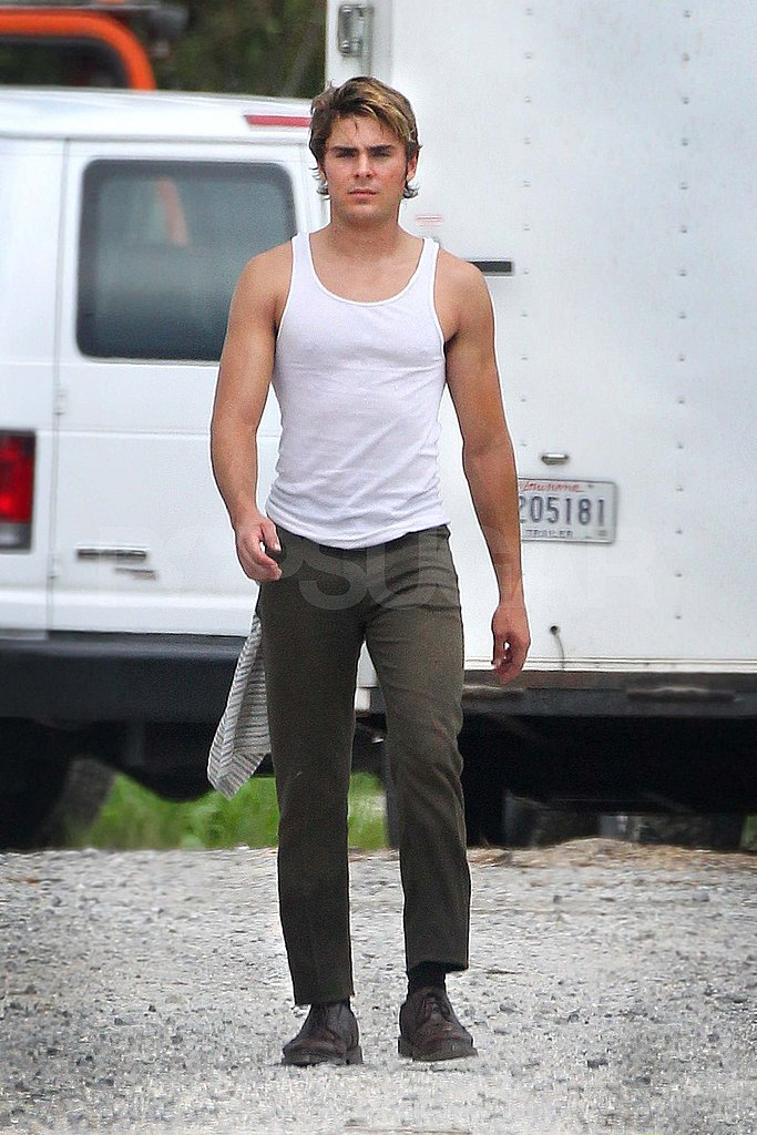 Zac Efron films The Paperboy in New Orleans.