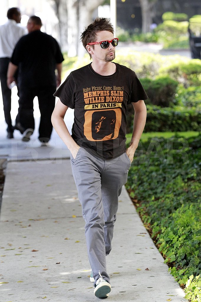 Matt Bellamy in a tee-shirt.