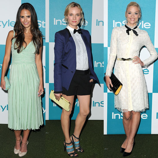 Diane Kruger and Jaime King at InStyle Summer Party 2011