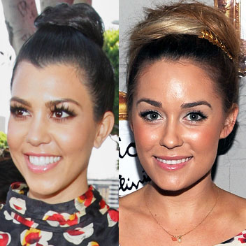 Lauren Conrad and Kourtney Kardashian Hair