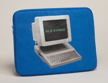 Old-school laptop sleeve ($20)