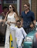 Angelina Jolie and Brad Pitt shop in London.