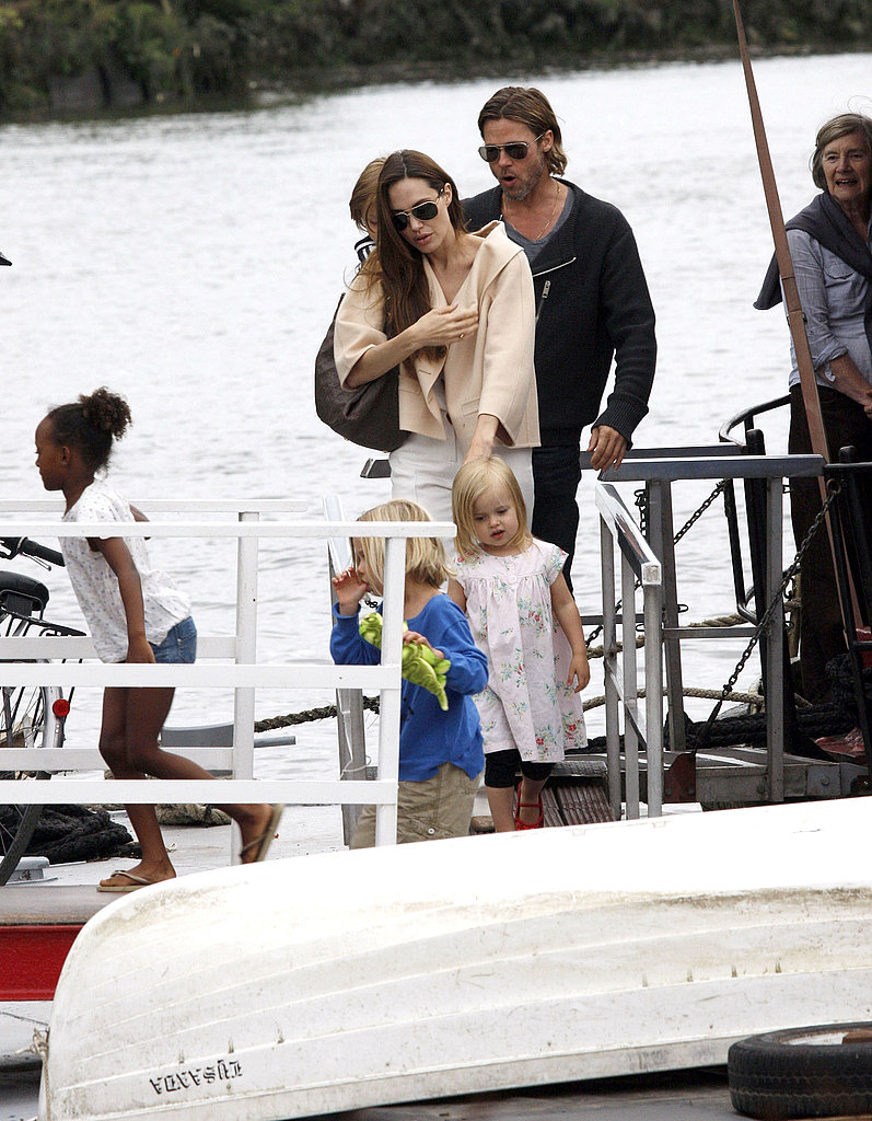 Angelina watched as Vivienne stepped onto the boat.