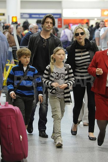 Kate Winslet and Louis Dowler with Mia and Joe.