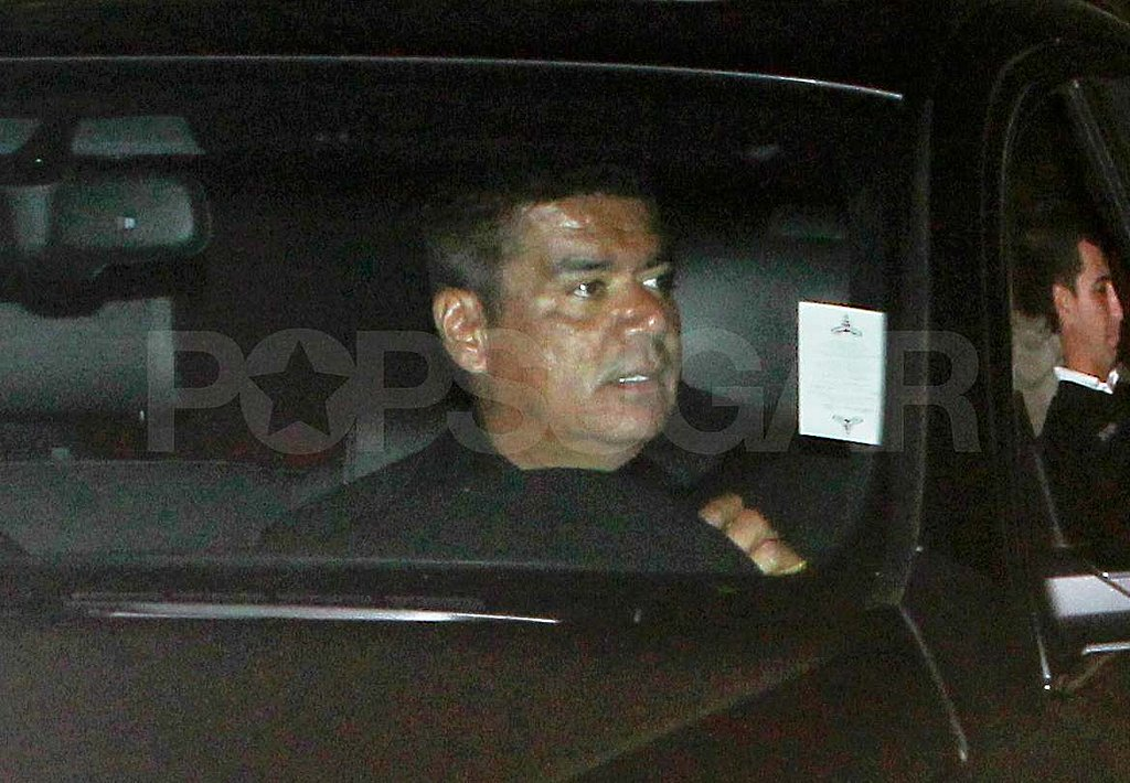 George Lopez leaves Kim's wedding.