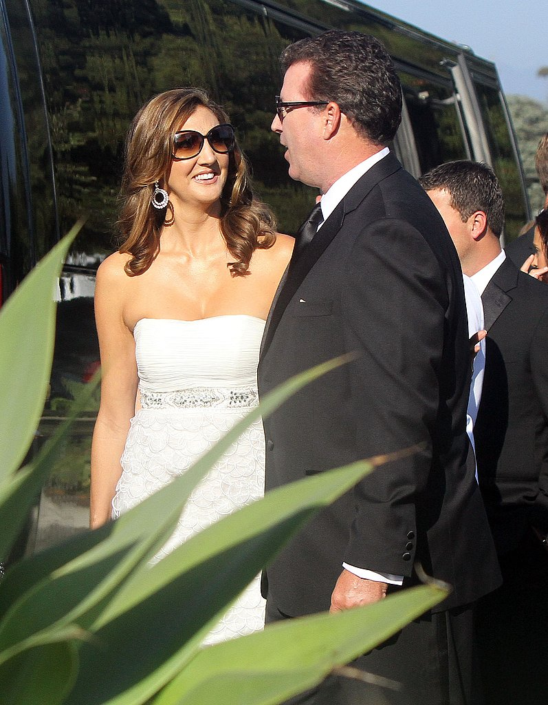 Heather McDonald and a guest at Kim Kardashian's wedding.