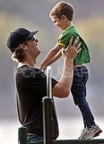Tom Brady with Jack in Boston.