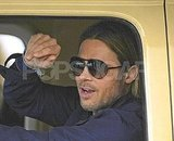 Brad Pitt filming World War Z.