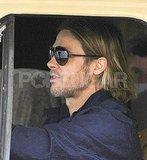 Sexy Brad Pitt Gets Behind the Wheel For World War Z