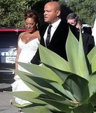 Pregnant Mel B and Stephen Belafonte at Kim Kardashian's wedding.