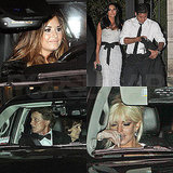 Demi Lovato, Lindsay Lohan, Mario Lopez, and More Head Home From Kim Kardashian's Wedding