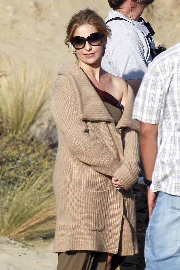 Sarah Michelle Gellar sported oversized shades.