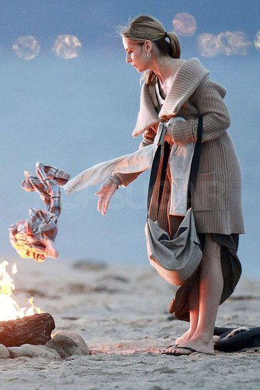 Sarah Michelle Gellar threw things into the bonfire.
