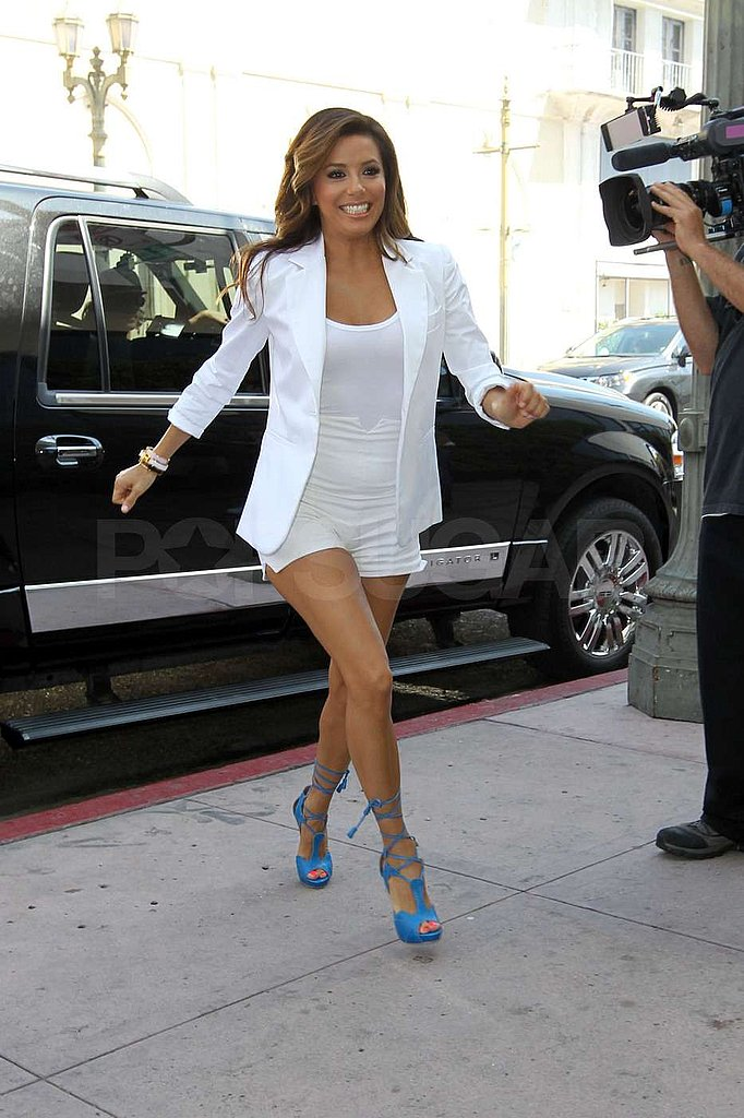 Eva Longoria wore bright white.