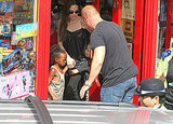 Angelina Jolie Treats Shiloh and Zahara to Another Round of Toy Shopping