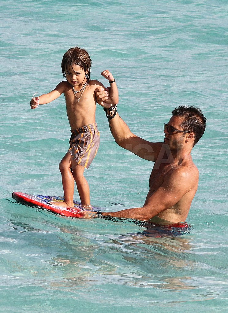 David Charvet shirtless on vacation.