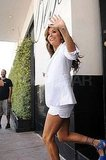 Eva Longoria waved to fans.