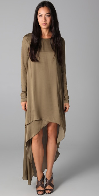 This dress is super versatile: just wear as-is with heels for an evening look or go casual and pair it with flat booties and a cardi for a laid-back look.  MaxAzria Asymmetrical Cocktail Dress ($398)