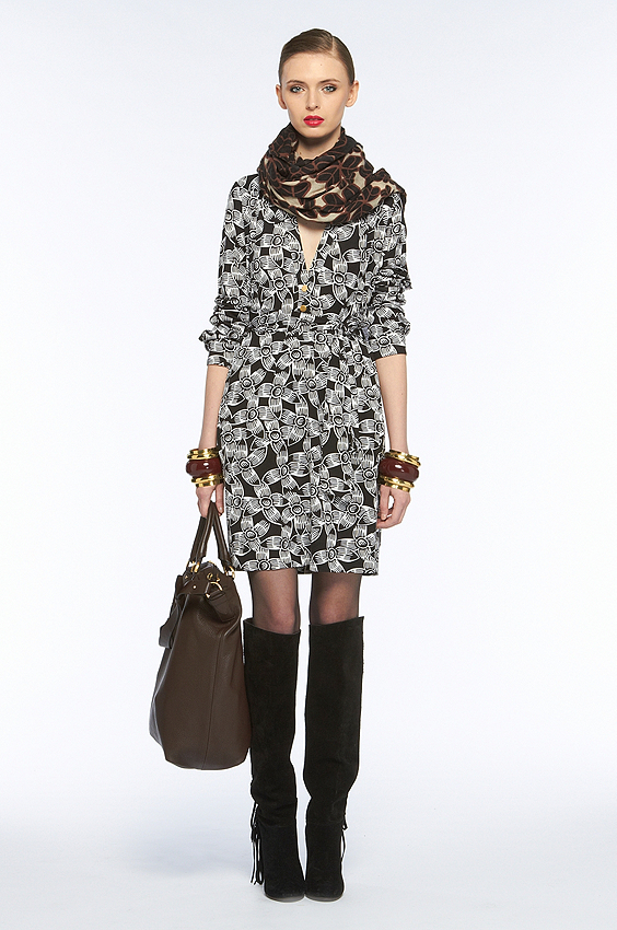 This printed dress is a seasonless investment.  Diane von Furstenberg Golda Dress ($345)