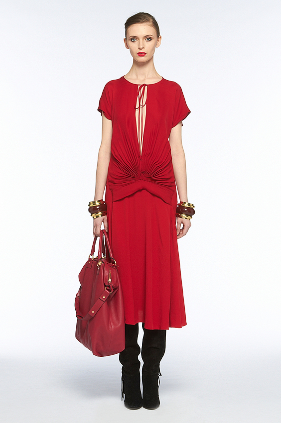 We love the bold color and '40s-inspired shape.  Diane von Furstenberg Andie Dress ($398)