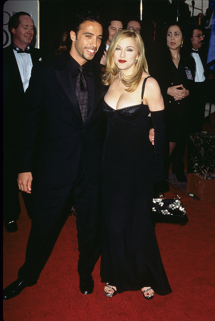 Looking sexy with then boyfriend Carlos Leon at the Golden Globes in 1997.