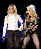 With Britney, performing in 2008.