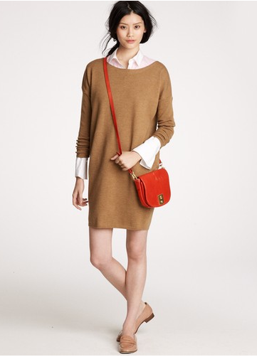 A sweater dress that can be styled many different ways. J.Crew Dolman Sleeve Sweater Dress ($138)