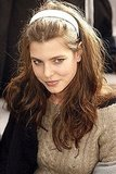 Charlotte looked cozy chic at the Chanel show in January 2007.