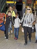 Madonna arrives in London.