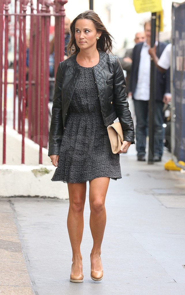 Pippa Middleton wraps up a work day.