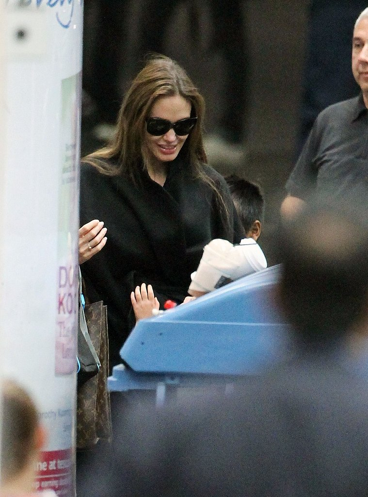 Angelina Jolie at Euston Station.