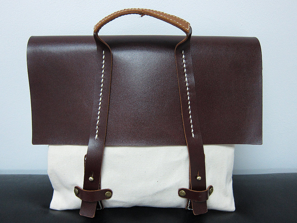 Motto Brown Leather and Canvas ($42)