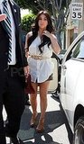 Kim Kardashian Visits Vera Wang's Bridal Boutique Just Days Ahead of Her Wedding