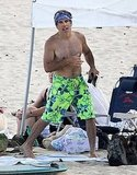 Ben Stiller shirtless in Hawaii.