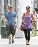Daniel Radcliffe and his girlfriend shared a laugh.