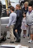 Brad Pitt with World War Z costars.