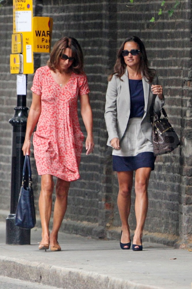 Pippa and Carole Middleton in Summer dresses.