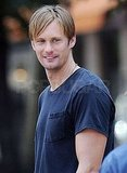 Alexander Skarsgard flashed a smile.