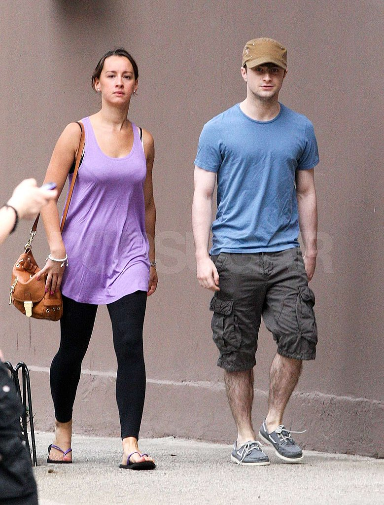 Daniel Radcliffe and his girlfriend braved the August heat together.
